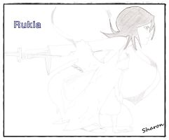 Feeling the sky... Rukia by parito