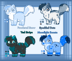 Blue Kitty Adoptable Auction by KittenthePsycho