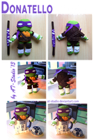 TMNT - Donnie Felt plushie by AT-Studio
