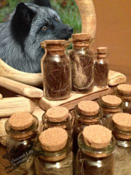 Silver fox fur-bottle FOR SALE *Ethically sourced* by SecondLifeTaxidermy