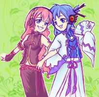 Cosplaying Luka et Gakupo by LordMaru4U