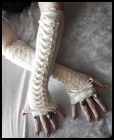 Porcelain Corset Arm Warmers by ZenAndCoffee