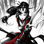Blood Moon Akali by gaby14link