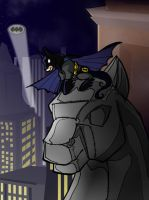 Justice League pony - tiny Bat by Dwelian
