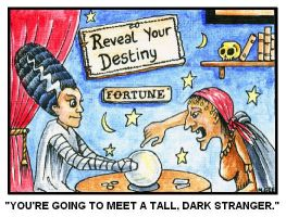 Fortune Teller - Postcard by mikegee777