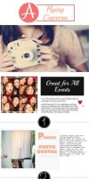 Get photobooth rentals and flipbooks and protect by aflyingcamera