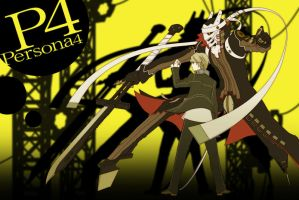 Persona 4 Yu and Izanagi by franz888