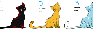 5 Point Horoscope Cat Adopts- OPEN by SoftcloudRC