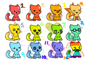 New adoptables!!! by ladybunny12