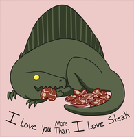 Chibi Spino Valentine by GoreFeathers