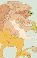 Traced Base - Gryphon Pet Naps by Shadow-Bases