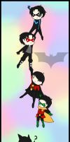 Batman and Robins Bookmark by SakiRee