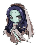 Emily the Corpse Bride by ayrra