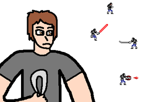 Anthony with Sprites by blackevil915