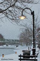Pittsford Erie Canal by CecilyAndreuArtwork
