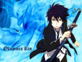 Okumura Rin Wallpaper by minniusui3211