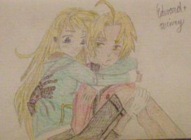 Ed and Winry Hug by cturcz1234