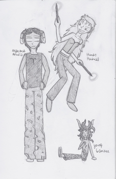 Two Aradias and Ickle Gamzee by stopthattimerave