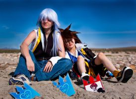 Sora and Riku on Destiny Island by Mciff-Cosplay