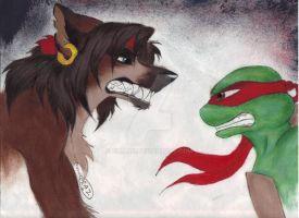 Raz and Raph face to face by zimaro