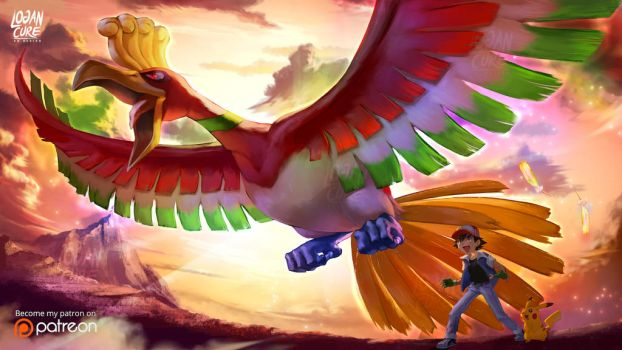 Ho-Oh, Pikachu, Ash Pokemon 20 I choose you! by logancure
