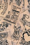 Hand Drawn Cloth Patches by KatieAnnOwens