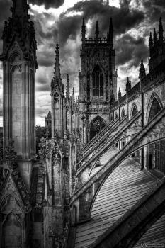 Side of Yorkminster roof by Yupa