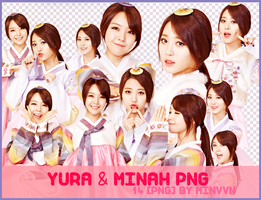 PACK PNG - Yura MinAh (Girl's Day) by MiHVVN