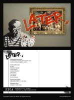 'Later' Art Show Post Card by tylersticka