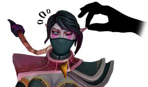 Dota2 - Press her for secrets... by goldenhearted