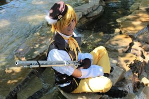 Male Mami Tomoe cosplay by kenric02