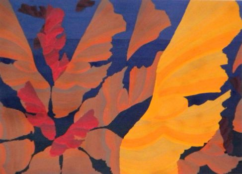 'Leaf' Abstract by DC-Art-Therapist
