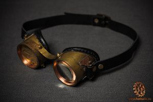 Steampunk brass-copper goggles by LahmatTea