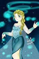 Elsa , Snow Queen by nana-san955