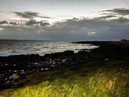 Dusk View Overlooking Porthcawl Town Beach Aug 12 by welshrocker