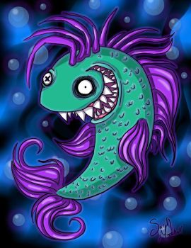 Lunatic Fish by frompencilstopixels