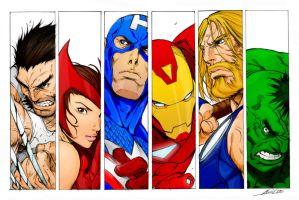 Avengers : alvin lee and viral by C-WeaponX
