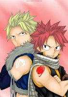 Natsu and Sting by Lonewolf2592