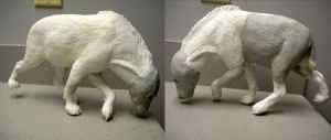 Hyena sculpture WIP update 3 by pookyhorse