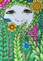 ATC weeping willow by waughtercolors