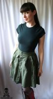 Army Fatigues Upcycled Skirt 2 by smarmy-clothes