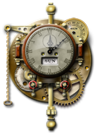 Steampunk Thingummy Clock Icon by yereverluvinuncleber