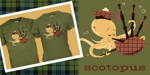 Scotopus Shirt Design by Montygog