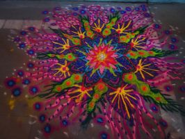 psychedelic sand art by preritjain