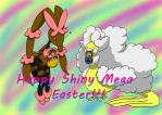 Happy Shiny Mega Easter!!! by MipeLaz