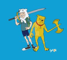 Adventure Time, fysh style by spacefysh