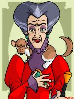 Lady Tremaine and Scorpious by Artistdragon