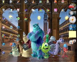 Monsters,Inc in Venice Desktop by ItalianShorty
