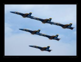 Blue Angel Practice by jdmimages