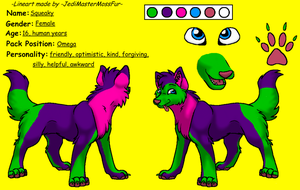 squeaky wolfsona ref sheet by SanguineJustice